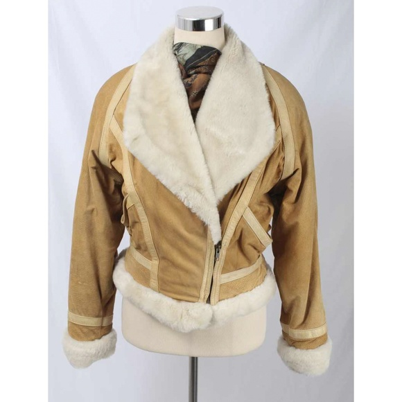 8acf8b00c Adventure Bound Wilson Tan Suede & Faux Fur Jacket